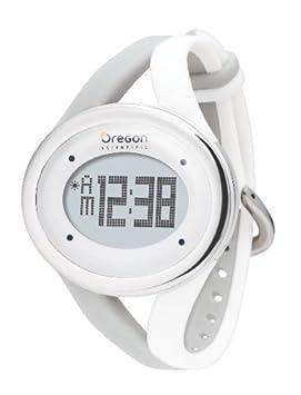 Oregon Scientific SE338 Muñeca Gris, Color blanco monitor de ritmo cardiaco - Monitor de ritmo cardíaco (50 m, CR2025, Gris, Blanco)