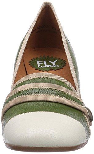 Fly London Bami, Women's Court Shoes Green - Grün (Green/Offwhite (Beige) 003)