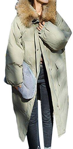 Loose Bread Down 1 Fur M Collar Women's Long amp;W Warm Sleeve Coats amp;S OanqngzF