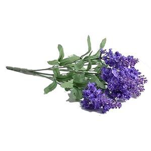 """Lily Garden TWO 14"""" Artificial Lavender Flower 10-stem Bouquets (light purple) 77"""