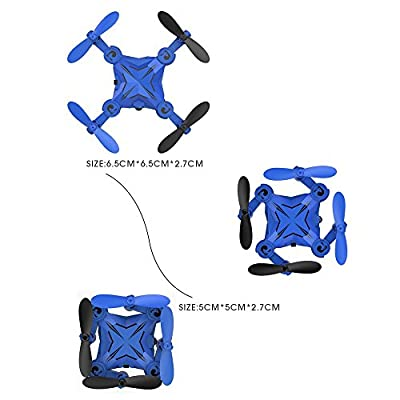 DROCON Scouter Foldable Mini RC drone with Altitude Hold Mode, One Key Take off Landing, 3D Flips and Headless Mode Quadcopter Easy Fly Steady for Beginners