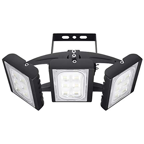 LED Flood Light Outdoor, STASUN 90W 8100lm LED Security Lights with Wider Lighting Area, 6000K Daylight, Built with OSRAM LED Chips, Adjustable Heads, Waterproof, Great for Yard, Garden, Garage
