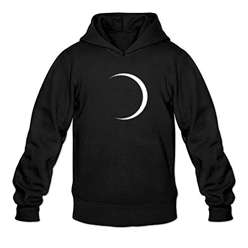 Total Eclipse Observe Safely Moon Men's Hoodie Long Sleeve Coat Cotton Sweatshirt