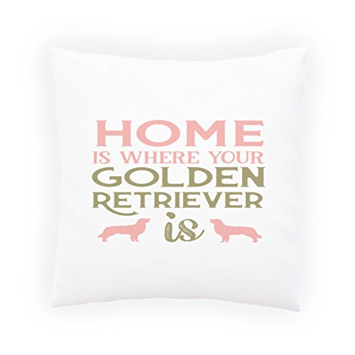 Home is where your Golden Decorative Pillow , Cushion cover with Insert or Without t957p (The Is Pillow Home Is Golden Where)