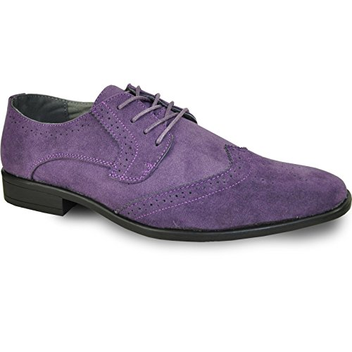 Bravo! Men Dress Shoe King-3 Classic Faux Suede Oxford With Leather Lining - Wide Width Available