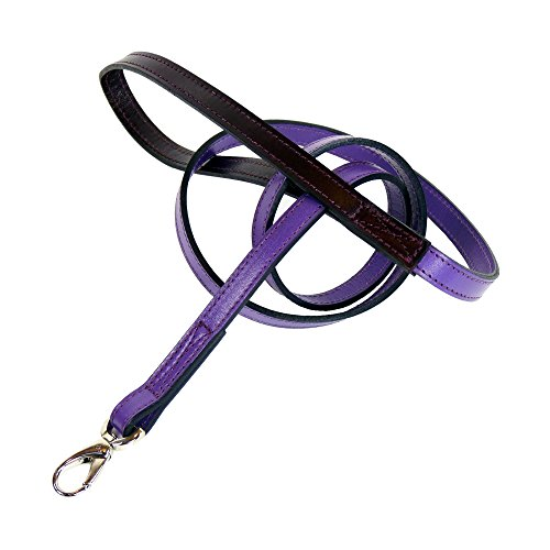 Grape Handle (Hartman & Rose Hartman Dog Lead, 1/2-Inch, Grape with Wine Handle)