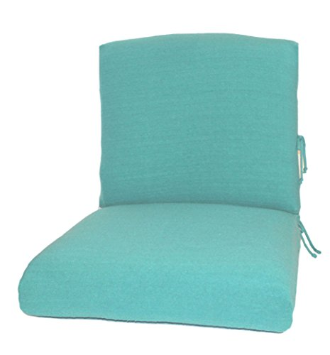 CushyChic Outdoor Terry Slipcovers for Deep Seat Patio Cushions, 2 Piece in Aruba - Slipcovers Only - Cushion Inserts NOT Included (Outdoor Cushion Slipcover)