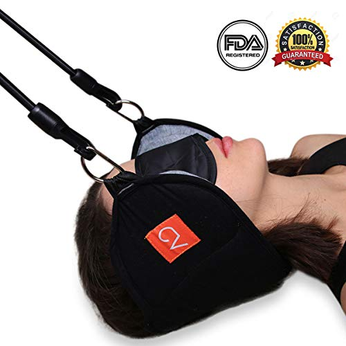 OacisLife Head Hammock for Neck and Shoulder Pain Relief | [2019 Updated] Cervical Traction and Stretcher Device for Men and Women with Bonus Eye Mask (Best Treatment For Bulging Disc In Neck)