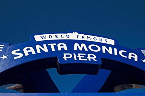 Santa Monica Pier Iconic Sign Los Angeles California Photo Art Print Poster - The Bay Heal Los Angeles