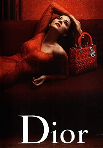 **PRINT AD** With Marion Cotillard For 2010 Dior Red Quilted Bags **PRINT - Dior Sale