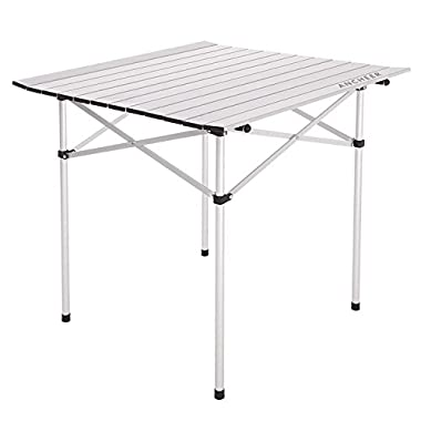 Ancheer Portable Aluminum Roll Up Table Folding Camping Outdoor Picnic Table Garden Yard