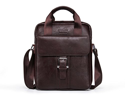 Contacts Mens Genuine Leather Crossbody Shoulder 12