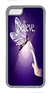 Transparent Cellphone Back Case Cover for iPhone 5C Shell Skin for iPhone 5C with Believe in the Power of Friendship