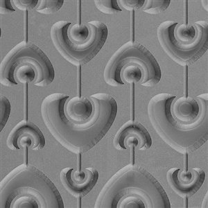 Valentine Tile (Cool Tools - Flexible Texture Tile - Heart Strings Embossed - 4