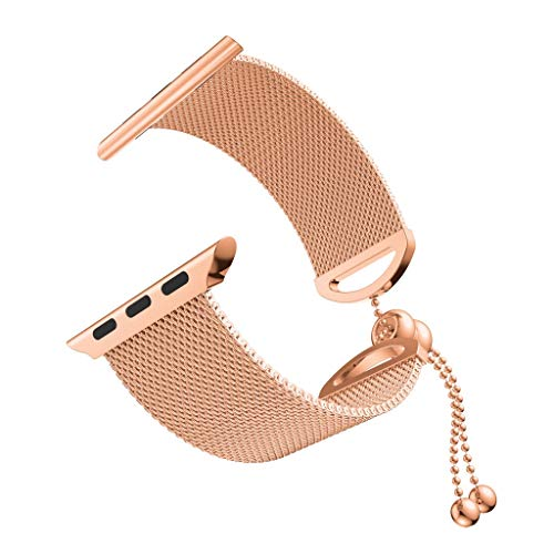 Clearance Sale!DEESEE(TM)Luxury Milanese Stainless Steel Metal Bracelet Wristband Strap for Apple Watch Series (40mm, Rose Gold) ()