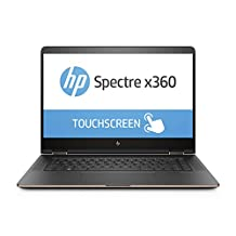"HP 1EL89UA#ABL 15.6"" UHD Touchscreen Spectre x360 Laptop (Core i7-7500U, 16GB RAM, 256GB SSD), with Windows 10"