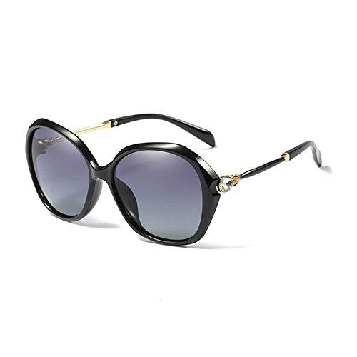WESHION Small Classic Polarized Sunglasses Women Brand Designer (Gray/Black) (Ray Ben Brille)