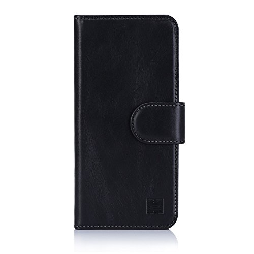 32nd Premium Series – Real Premium Leather Book Wallet Case Cover For Samsung Galaxy S9, Real Leather Flip Design With Card Slot, Magnetic Closure and Built In Stand
