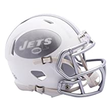 NFL New York Jets Riddell Ice Alternate Speed Mini Replica, Silver, Small