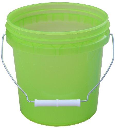 Encore Plastics 11128 Translucent Plastic Pails with Handle, 1-Gallon, Assorted Colors -