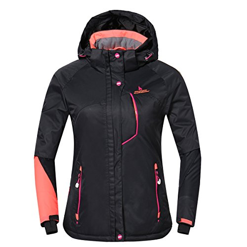 - PHIBEE Womens Waterproof Outdoor Snowboard Breathable Ski Jacket Black S