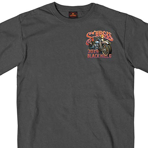 Official 2019 Sturgis Motorcycle Rally Rushmore Charcoal T-Shirt (CHARCOAL Extra ()
