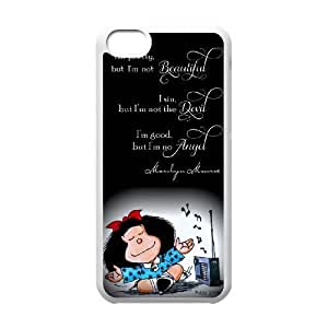 Mafalda N8K5Zf iPod Touch 6 Funda carcasa blanca K3I2HF bricolaje funda caso único