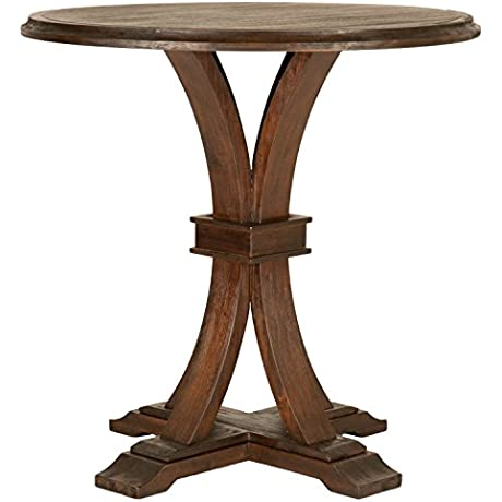 Devon Round Bar Height Dining Table Rustic Java
