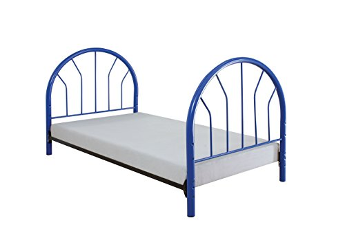 ACME Silhouette Blue Twin Headboard and Footboard