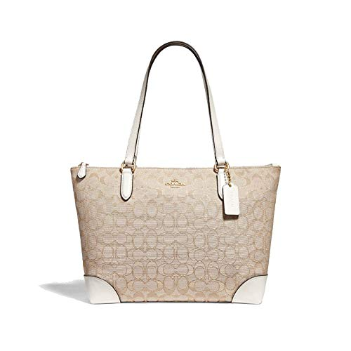 COACH Outline Signature Zip Tote 1