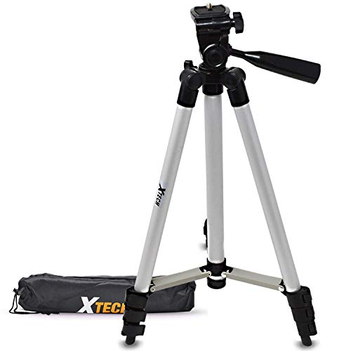 Xtech Pro Series 50' inch Tripod with Carrying Case, 3 Way Pan-Head, for Nikon Coolpix A900, A10, A100, S33, S32, L620, L610, L820, L810, L31, S5700, S3700, S2900, S810c, S5300, S3600, W300