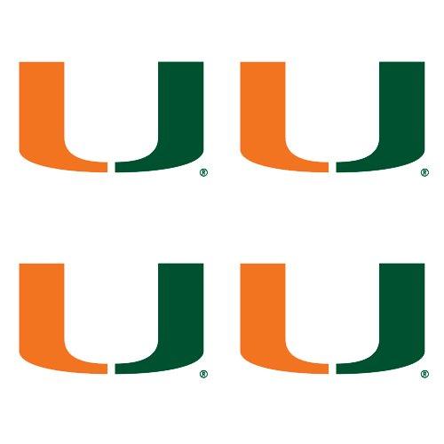 NCAA Miami Hurricanes 4-Pack Temporary Tattoos Wincraft