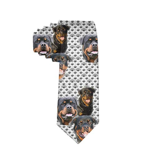 Classic Men's Necktie For Wedding Party Office Gift - Rottweilers And Thistles Tie
