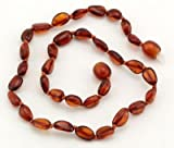 """The Art of CureTM Baltic Amber Baby Teething Necklace – Bean Honey w/ """"The Art of Cure"""" Jewelry Pouch-TM, Baby & Kids Zone"""