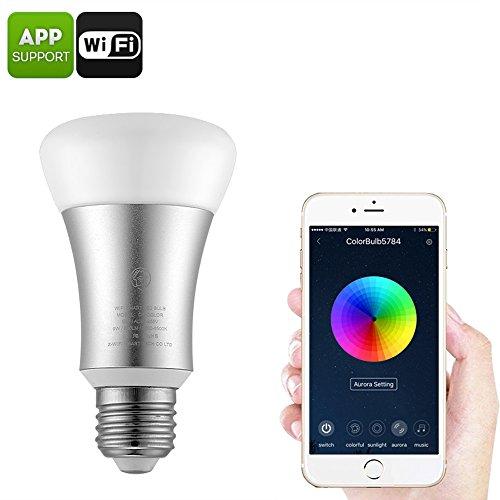 Elegant Smart LED Bulb Wi Fi Light Sourcingbay 8W E27 Base RGB LED Bulbs Music Control Amazing - Minimalist lumiere lighting Beautiful