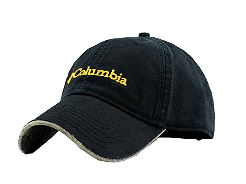 (Columbia Unisex Adjustable Performance Classic Outdoor Flex Fitted Hat Cap, Black, Free size)