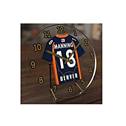 FanPlastic Peyton Manning 18 Denver Broncos Desktop Clock - National Football League Legends Edition !!