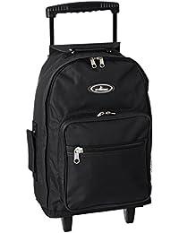 Wheeled Backpack - Standard, Black, One Size