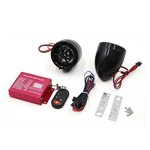 Amazon.com: eDealMax 2pcs Negro motocicleta MP3 USB SD ...