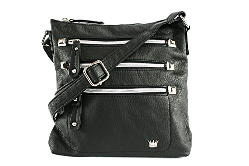 Stud Cross Body (Purse King Queen Black Cross Body Bag)