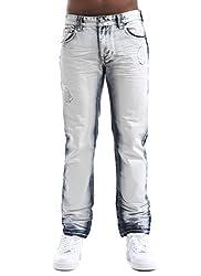 Smoke Rise Men's Straight Fit Denim Jeans-Ice Indigo-36/32
