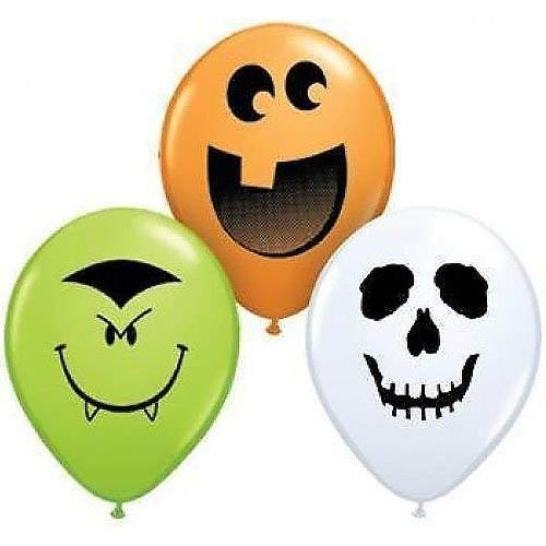 Qualatex Latex Balloon 97677 HALLOWEEN FACE ASSORTMENT 5