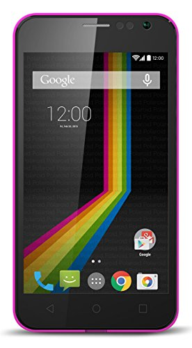 "Polaroid A4PK 4"" Unlocked Smartphone Bundle Accessory Kit, No Contract, 4G HSPA+ Dual SIM GSM, Android 4.4 KitKat,Pink"