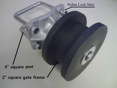 (Cantilever Gate Wheels Cantilever Slide Gates Cantilever Gate Rollers - SET OF 4)