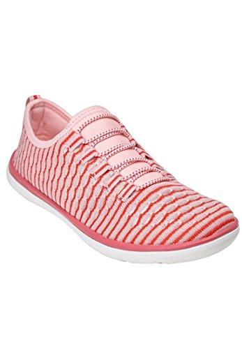 Comfortview Womens Wide Ariya Sneakers Pink Peach 3p9lZH