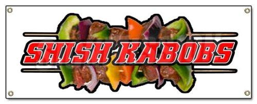 SHISH KABOBS BANNER SIGN kebab middle east eastern falafel lamb skewer shawarma