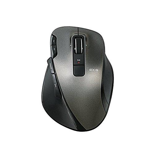 ELECOM ワイヤレスレーザーマウス UltimateLaser 握りの極み 8ボタン ブラック M-XG3DLBK