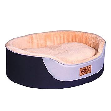 Lovelysunshiny - Cama para Mascotas (Tejido Oxford, Resistente al Desgaste, Redonda, con Almohadilla Gruesa): Amazon.es: Productos para mascotas