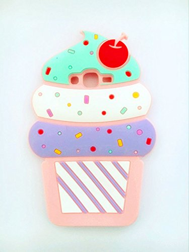 Price comparison product image Cute 3D Cherry Ice Cream Silicone Soft Case Bumper Back Cover For smart cell phones (Samsung Galaxy J3 (2016) J320)