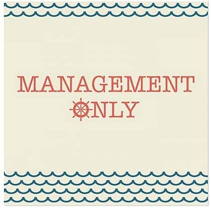 Management Only CGSignLab 5-Pack Basic Teal Window Cling 16x16
